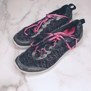 Vionic pink & black athletic sneakers